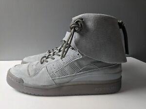 sale retailer 2e340 fae9d Image is loading Adidas-Originals-Forum-Hi-Moc-Stone-Clay-Grey-