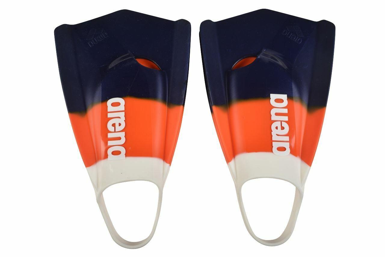 Arena Powerfin pro Ltd Edition - SchwimSie Training - Weiß Orange Marineblau