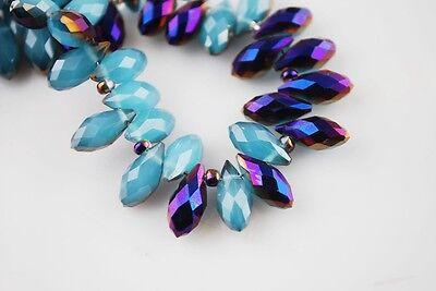 10/50x 12x6mm Teardrop Crystal Glass Loose Beads Pendants Jewellery Finding Lots