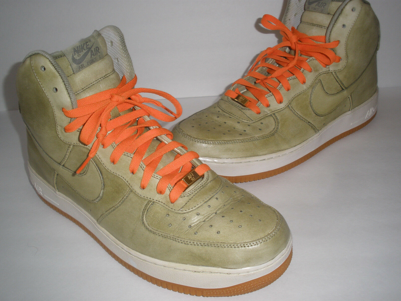 NIKE AIR FORCE 1 GREEN LEATHER SIZE US 14 RARE ONLY 1 ON EBAY