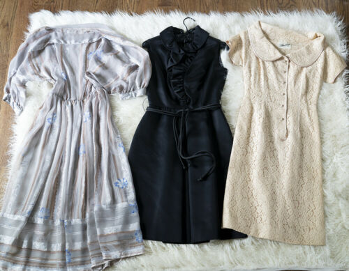 Lot of VINTAGE Clothing, Dresses Dress Tops & More