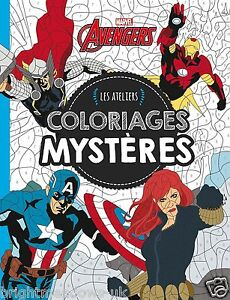 Image Is Loading Marvel Avengers Adult Colouring Book French By Number