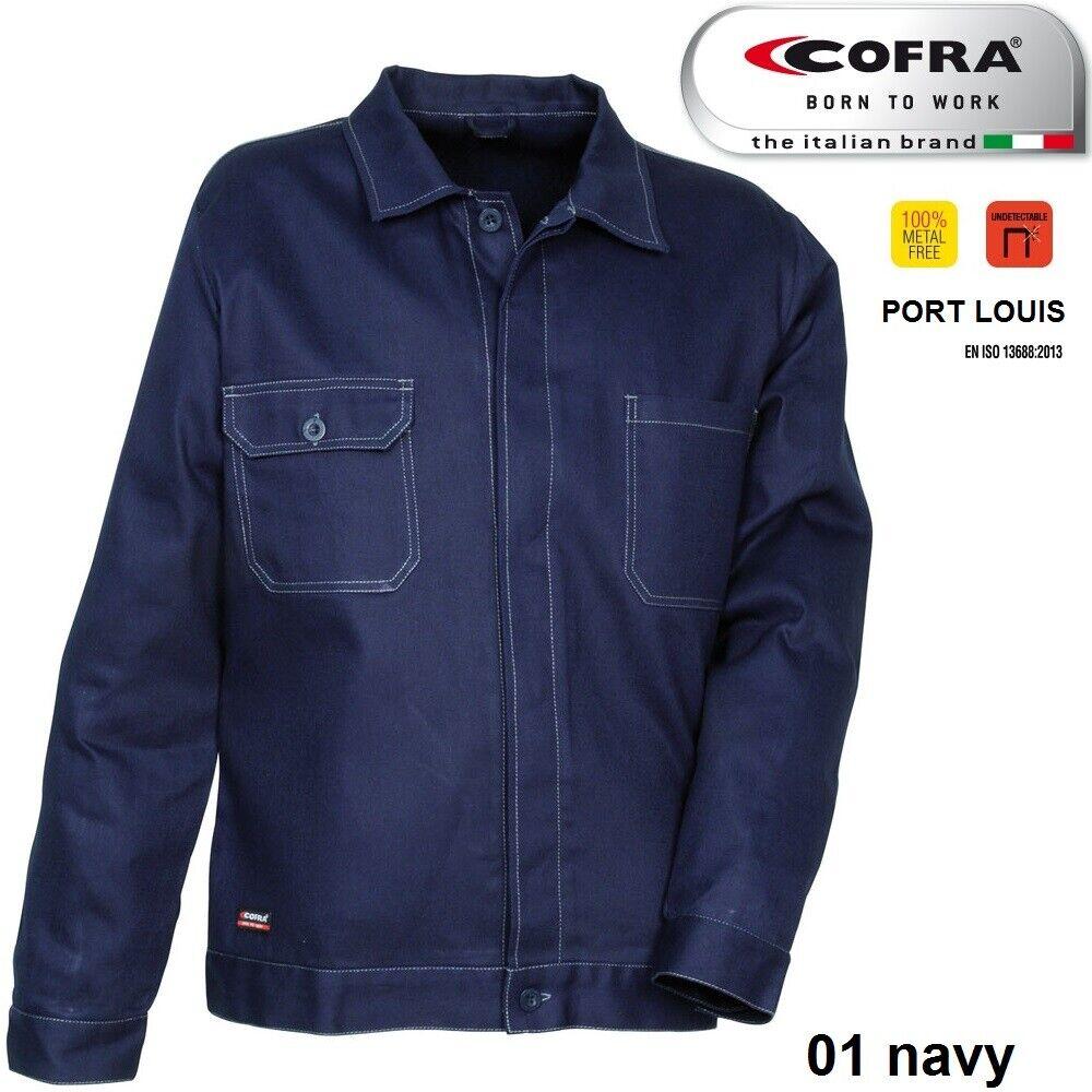 Immagine 4 - Giacca da lavoro COFRA modello PORT LOUIS 100% cotone 270 g/m² industria logist