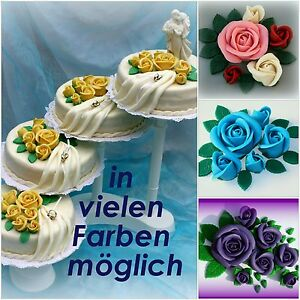 Marzipanrosen Bouquets Zuckerrosen Hochzeitstorte Fur