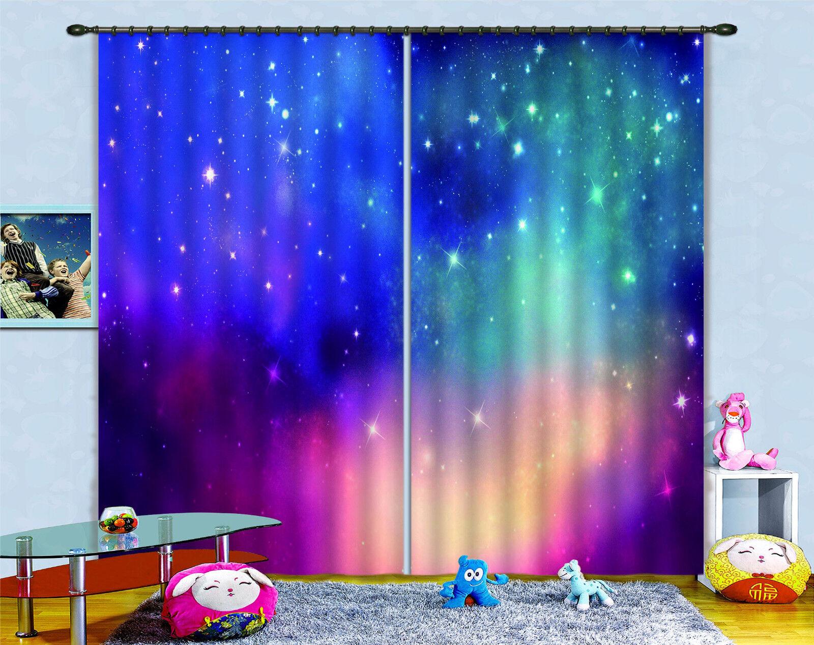 3d Color estrellas 387 bloqueo foto cortina cortina de impresión sustancia cortinas de ventana