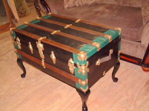 Details About Vintage Trunk Coffee Table Storage Chest Chic Style