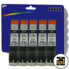 5 Black C526 Inks for Canon MG5150 MG5250 MG5350 MG6150 iP4850 iX6550 non-OEM