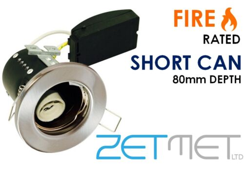 20 x Fire Rated Short Can Fixed GU10 LED Recessed Ceiling Downlight Spotlight