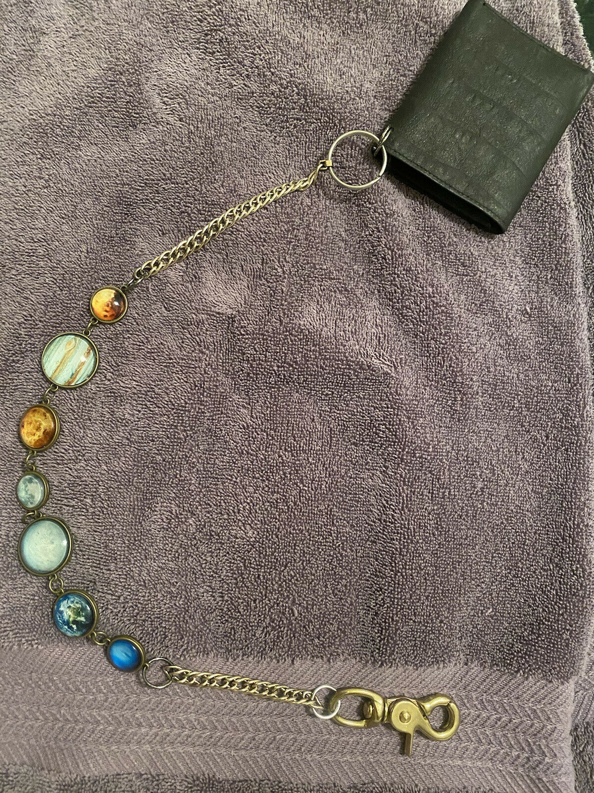 Sevel ChainSmith Solar System Chain with leather Wallet(one of a kind)