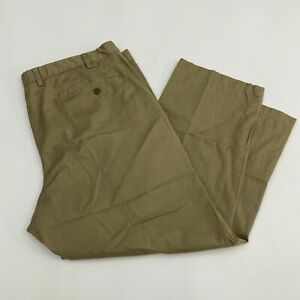Dockers-D4-Chino-Pants-Men-46X30-Khaki-Tan-Pleated-Front-Relaxed-Fit-100-Cotton