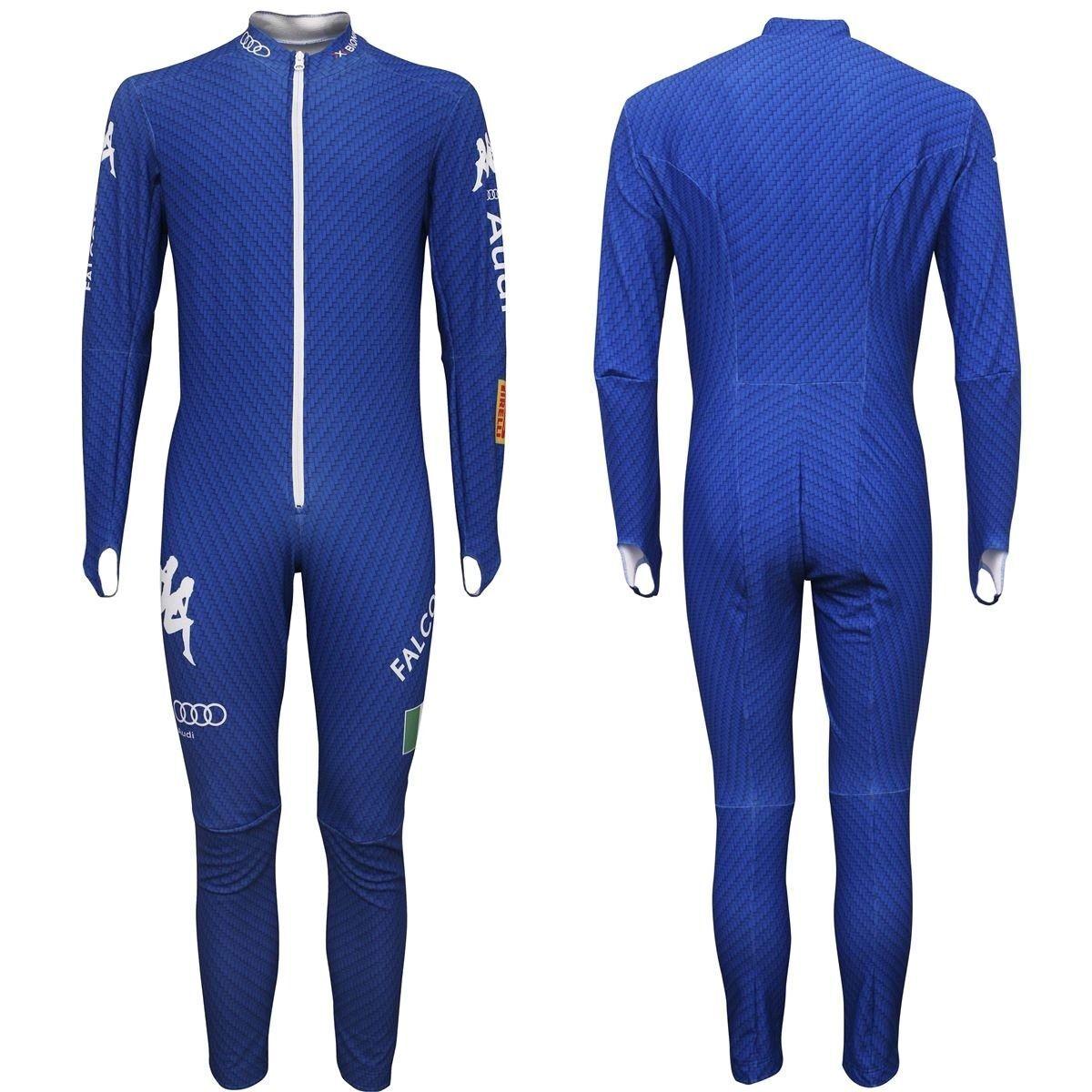 Kappa Ski Rennanzug Race Racing Speed Suit L Blau Neu Italia National Team SG DH