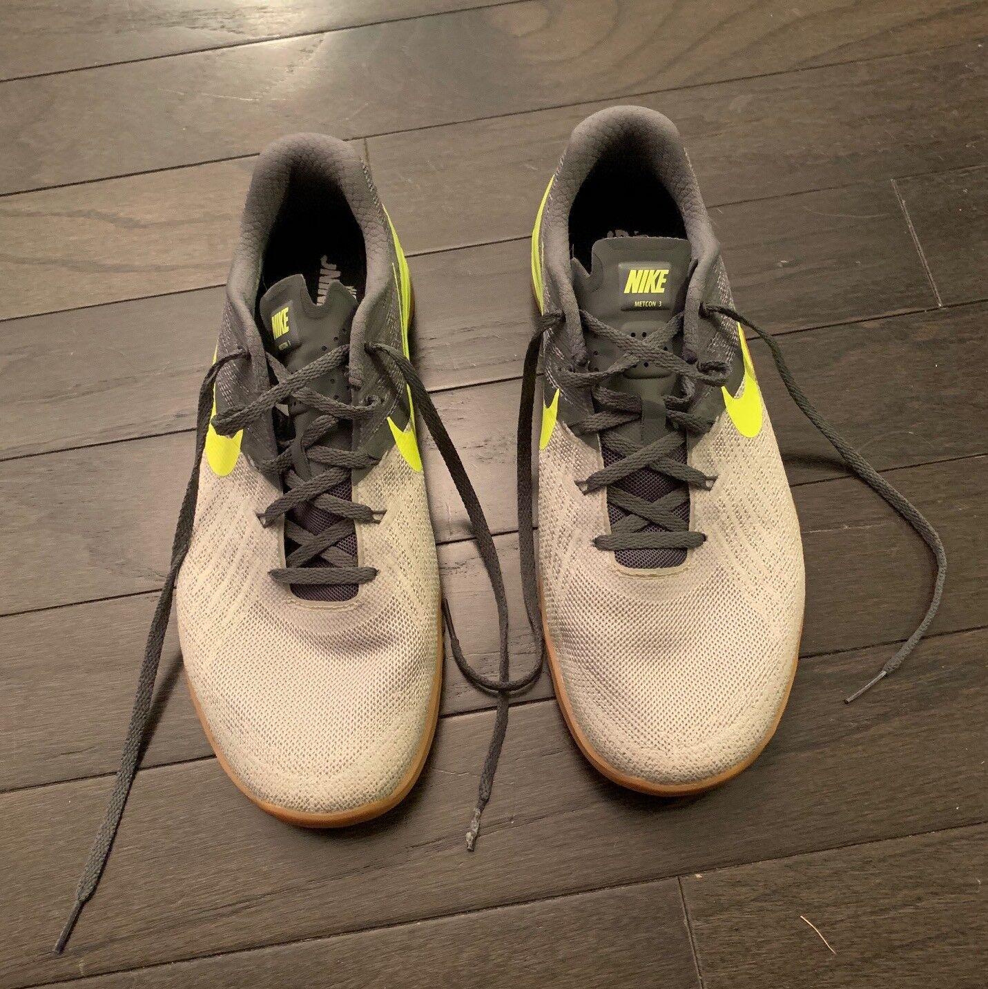 best service ad94d 0df01 Nike Men s Metcon 3 Training Training Training shoes - Dark Grey Pale Grey  Light Bone Volt