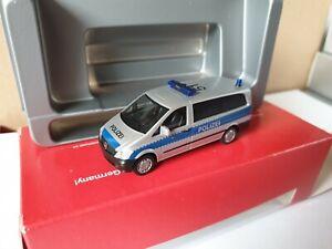 Herpa-MB-Vito-autobus-policia-110-hamburgo-techo-identificador-51-rayas-servicio-090728