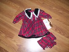 Baby Girl Christmas Dress Red / Black Holiday Dress Sz 6-9 Months Youngland NEW