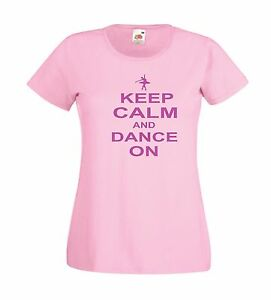 KEEP-CALM-DANCE-ballet-present-xmas-birthday-gift-idea-boys-girls-top-T-SHIRT