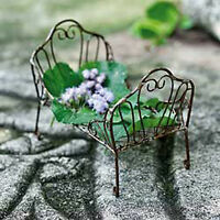 Dollhouse Miniature Fairy Garden Antiqued Day Bed