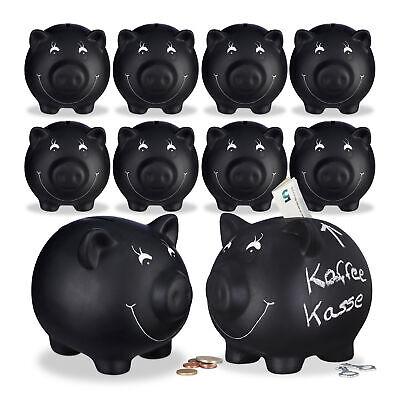 Glücksschwein Spardose Sparbüchse Kinder Sparbox 2x Sparschwein zum Beschriften