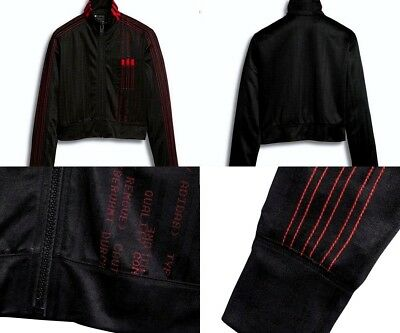 Adidas X Alexander Wang Crop Track Top Women's Small Black Red DM9685 | eBay