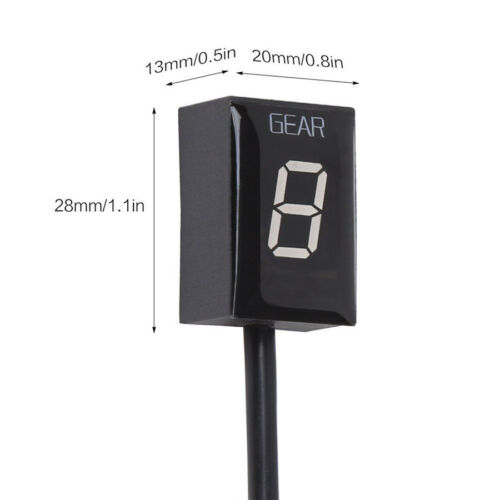 Waterproof Red LED 0-6 Gear Indicator Display Plug/&Play For Kawasaki ER-6F ER-6N