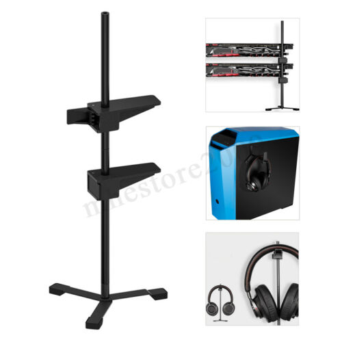 2In1 Universal Magnetic GPU Graphics  Holder Bracket Support 2 Graphics