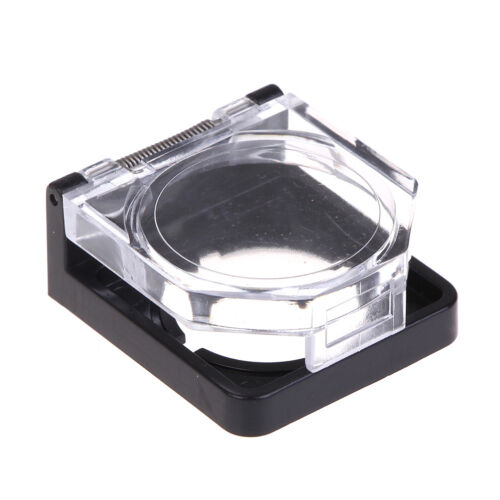 Black 22mm clear plastic push button switch guard protector DS