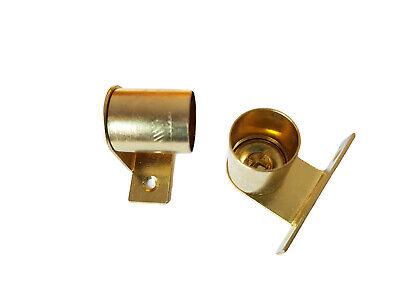 2 In Ottone A Gomito Tenda Rod Staffe Recess 20mm Staffe Di Supporto Palo Rete Voile-mostra Il Titolo Originale Brividi E Dolori