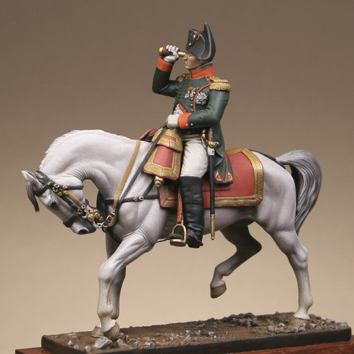 Metal Modeles Mounted Napoleon in Guard Chasseur uniform 54mm Unpainted Kit