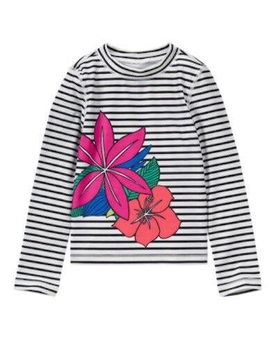 NWT Gymboree Girl Tropical Flower Rash Guard 4 5//6 7//8 10//12 Swim shop UPF 50+