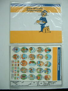 VINTAGE-BCAL-BRITISH-CALEDONIAN-AIRWAYS-IN-FLIGHT-CHILDS-PACK-MAP-Capt-McCal