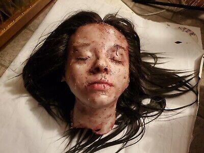 Silicone HORROR movie prop severed female head spfx Gore