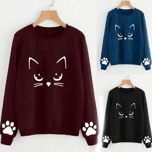1pc-Women-Fall-Winter-Cat-Print-Tops-Shirt-Long-Sleeve-Blouse-Casual-Outwear-L0
