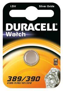 1x-Duracell-389-390-1-5-V-Oxyde-D-039-argent-Montre-Batterie-SR54-SR1130-D389-V389-V390