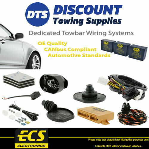 ECS 7 Pin Towbar Trailer Wiring Kit For AUDI A6 Saloon 2004 2011