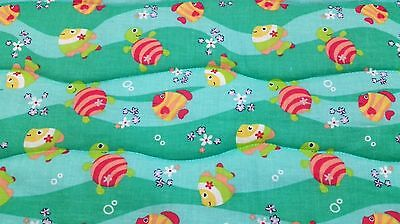 """HANDMADE/""""ZOO ANIMALS/""""35x43in FLANNEL BOYS BABY//TODDLER QUILTED BLANKET-GIFT IDEA"""