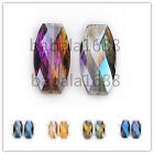 Charms Big Long Flat Oval Glass Crystal Loose Spacer Beads Necklace Findings