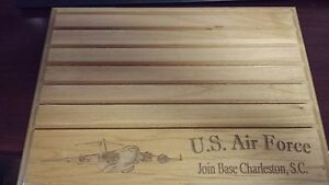 Details about Military Challenge Coin Holder 9x12, U S  Air Force J  Base  Charleston,S C  Flat