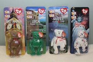 TY-Beanie-Babies-McDonald-039-s-Collectors-4-Teenie-Special-International-Set