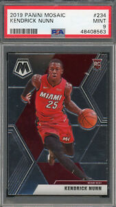 Kendrick Nunn Miami Heat 2019 Panini Mosaic Basketball Rookie Card RC 234 PSA 9