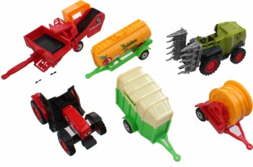 DIE-CAST TRACTOR MODEL PLAYSET FOR KIDS FARM TRUCK VEHICLE TOY GIFT DIECAST