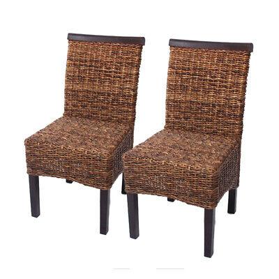 2x Korbstuhl Esszimmerstuhl M45 Stuhl Bananengeflecht dunkel, ohne Kissen   eBay