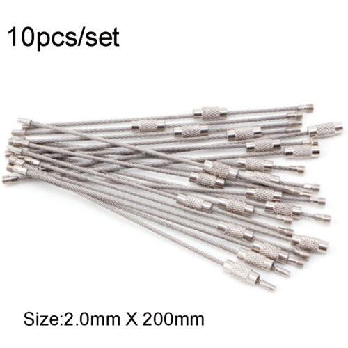 outdoor camping edelstahl schlüsselanhänger drahtseile schlüsselbund kabel