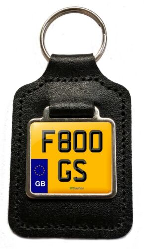 F800 GS Reg GB Cherished Number Plate Leather Keyring for BMW F800GS  Owners