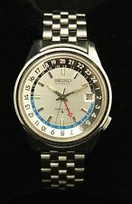 Seiko Stainless Steel World Time Automatic Wristwatch. Frank Sinatra Jr. Estate