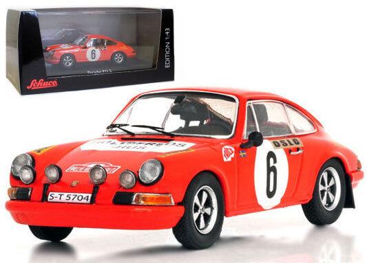 SCHUCO PORSCHE 911S Monte Carlo Rally 1970-B Waldegaard scala 1/43