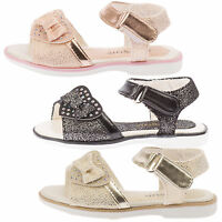 GIRLS SANDALS KIDS INFANTS TODDLERS SUMMER BEACH SHOES WALKING DIAMANTE SIZE NEW