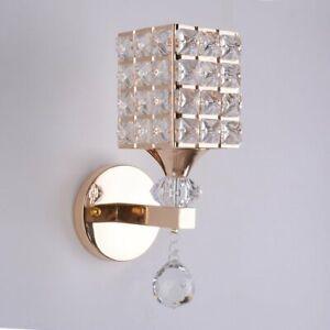 Moderna Lampada Da Parete Applique In Cristallo Per Decorazione Ed Illuminazione Ebay