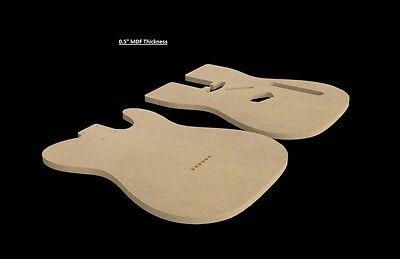 """Telecaster MDF Guitar Body Template 0.5"""" thickness CNC made tele"""