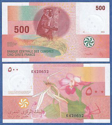 P-15 Comoros 500 Francs 2006 UNC
