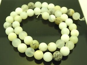 White African Dendritic Opal 16x8mm Rice Bead Strand 104937
