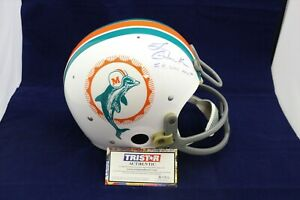 Larry-Csonka-Signed-Auto-F-S-Dolphins-RK-Suspension-Helmet-Custom-Mask-TRISTAR